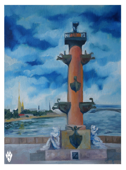 "Rostral column. ""The Air of Petersburg"" Ekaterina Frolova"